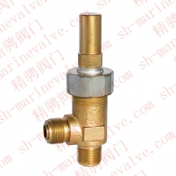Marine external thread bronze right angle safety valve CB907-1994