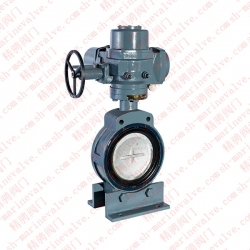 Marine double eccentric electric butterfly valve CB/T4173-2011