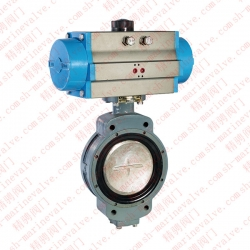 Marine pair of double eccentric pneumatic butterfly valves CB/T 4384-2016