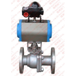 Marine pneumatic ball valve with model feedback device