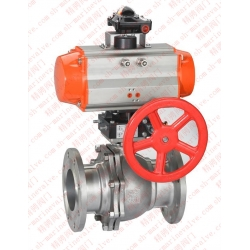 Marine pneumatic ball valve with manual device CB/T4383-2016