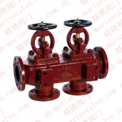 Marine flange cast iron single row suction shut-off box R and RS GB/T1854-93