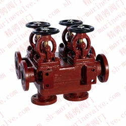 GB2499-93 marine cast iron double row double cut-off valve box R and RS